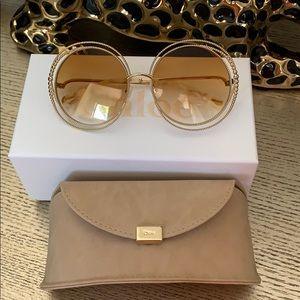 Chloe Carlina Chain Sunglasses